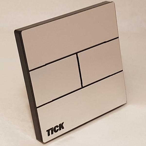 کلید لمسی دو پل فلزی تیک